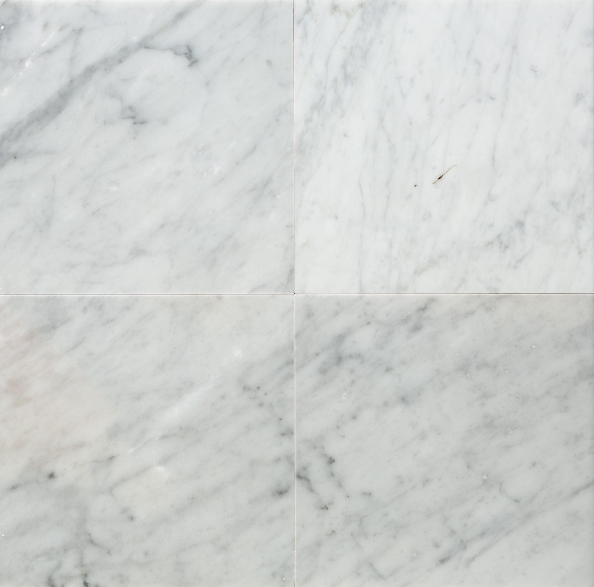 Classic Carrara Marble Bathrooms: White Carrara Classic Polished Marble